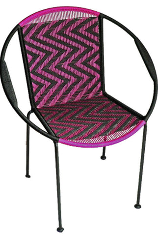 Gigi Black & Fuchsia Chair