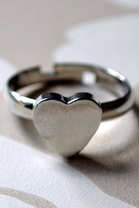 Love Heart Ring Silver