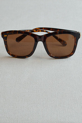 Retro Square Sunglasses Leopard