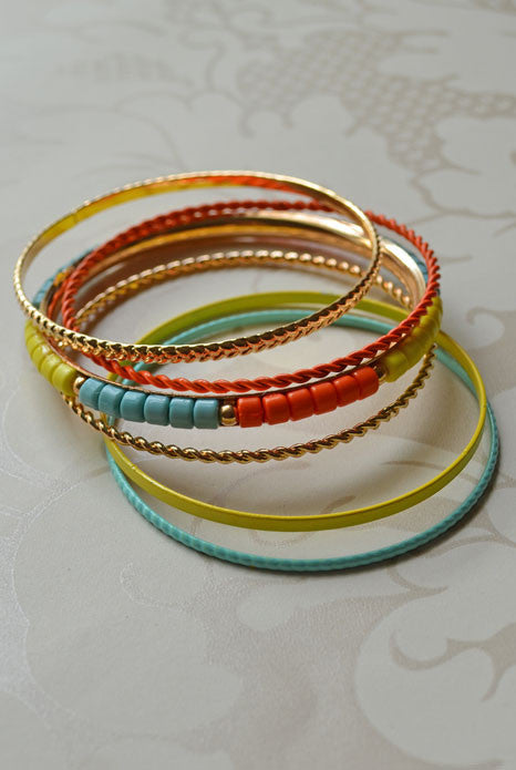 Wonderlust Bangle Set Neon