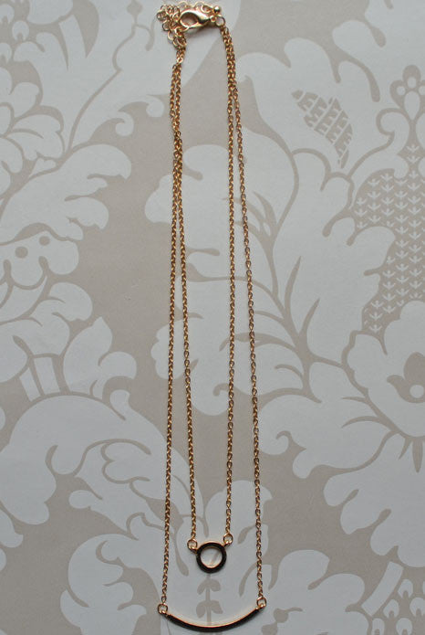 Aphrodite Layered Necklace Gold