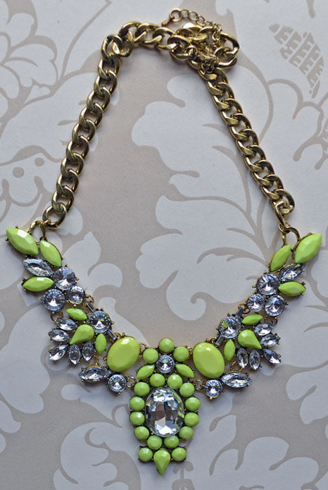 Anastasia Necklace Neon Yellow