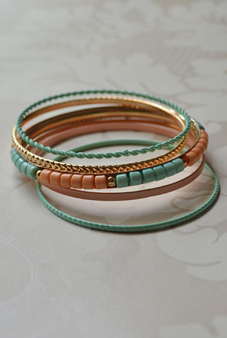Wonderlust Bangle Set Pastel
