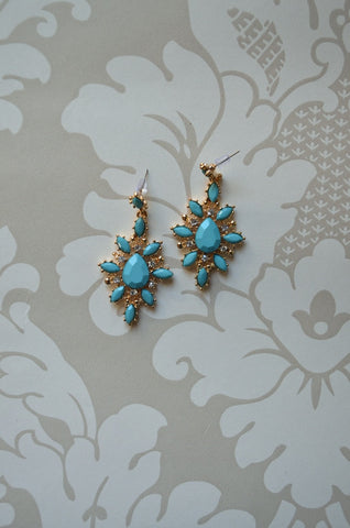 Angel Earrings blue