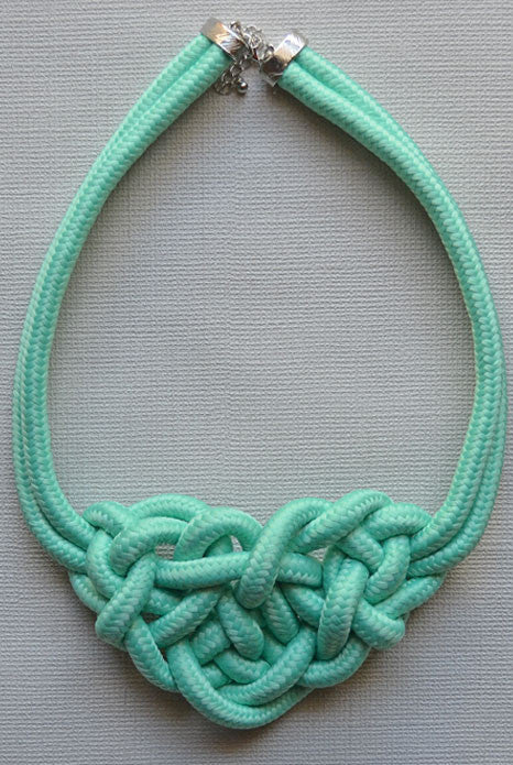 Knot Necklace Teal