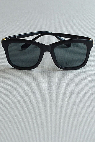 Retro Square Sunglasses Matt Black