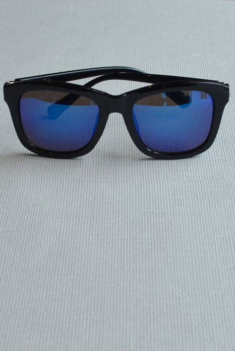 Retro Square Sunglasses Blue