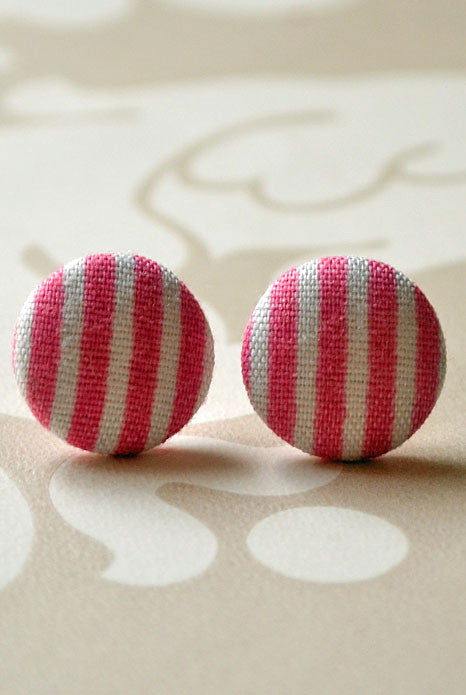 French Riviera Studs Pink Stripe