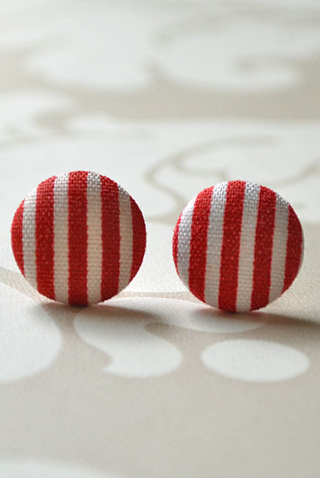 French Riviera Studs Red Stripe