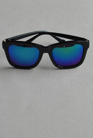 Retro Square Sunglasses Green