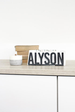 personalized metal name mail holder organization gift homemade home decor farmhouse