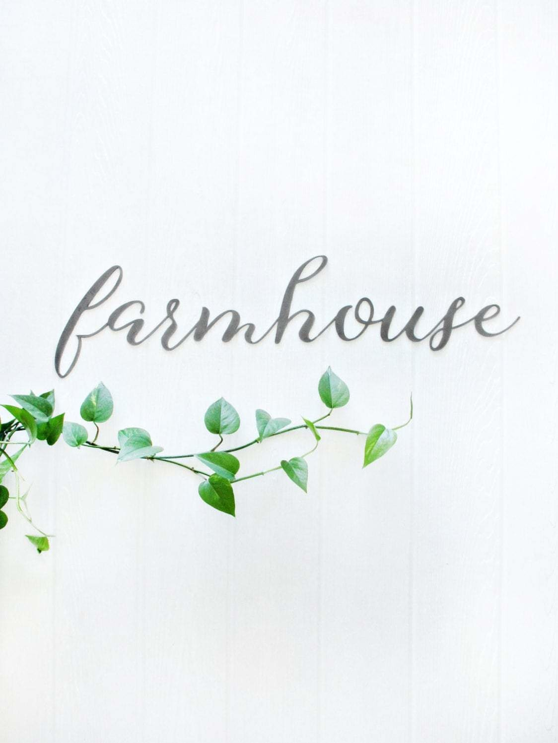 Farmhouse Metal Word Art