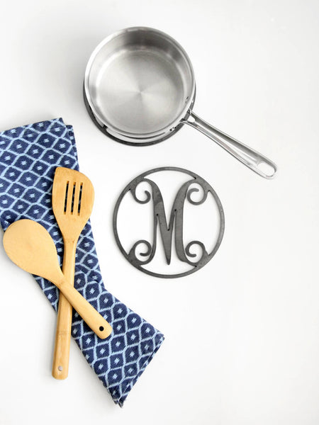 Personalized Kitchen Trivet Hot Plate Monogram Pot Holder