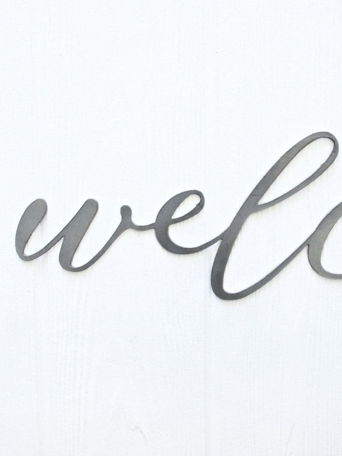 Welcome Metal Word Art