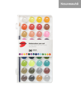 Ens. aquarelle 36 couleurs