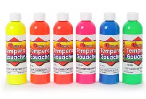 Ensemble de 6 gouaches fluorescentes