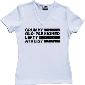 Grumpy Old-Fashioned Lefty Atheist Women's T-Shirt