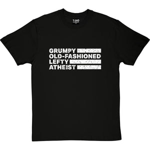 Grumpy Old-Fashioned Lefty Atheist Men's T-Shirt