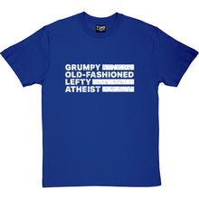 Load image into Gallery viewer, Grumpy Old-Fashioned Lefty Atheist Men's T-Shirt