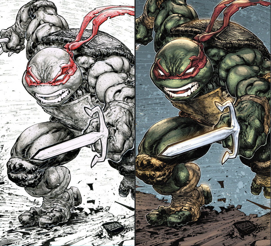 TMNT 108 Evolve Comics and Collectibles Raphael Variant Set by Freddie Williams II