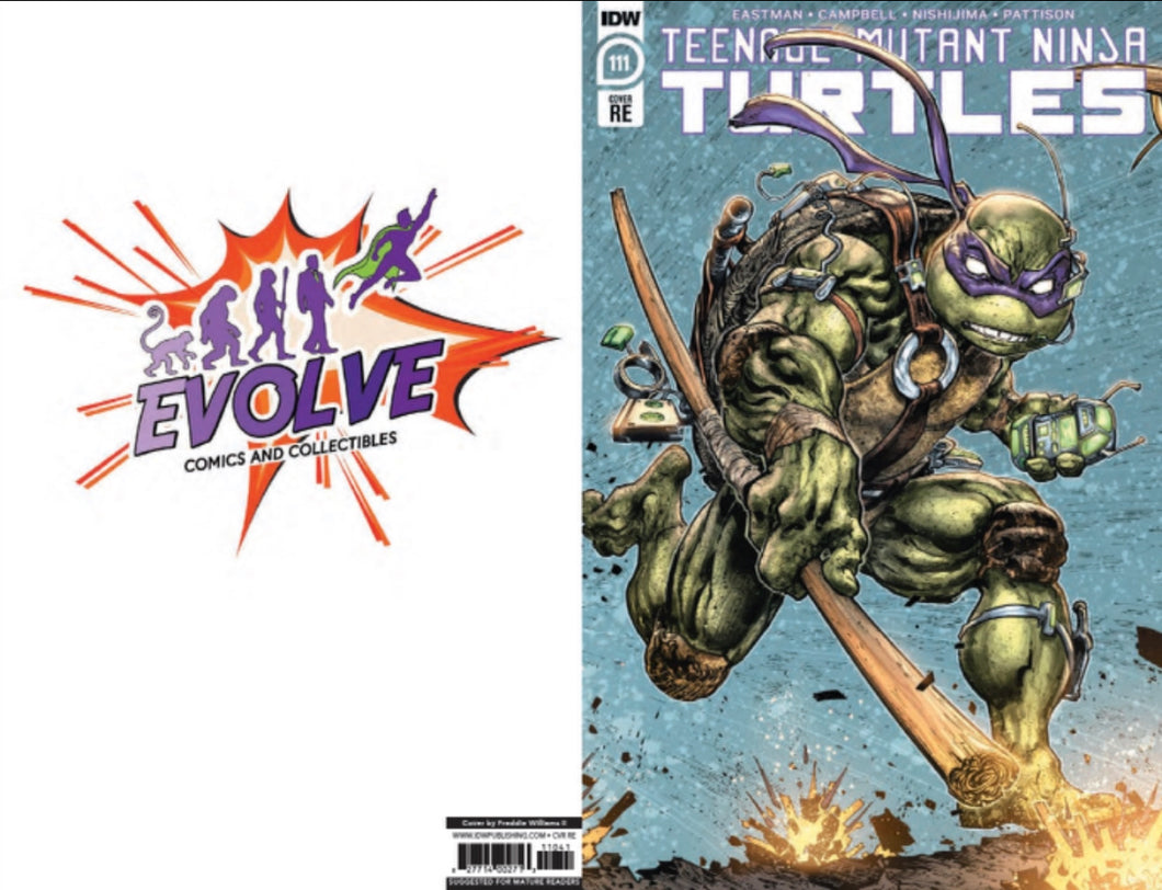 TMNT 111 Evolve Comics and Collectibles color variant (pre-sale)