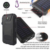 30,000mAh Solar Power Bank with Compass