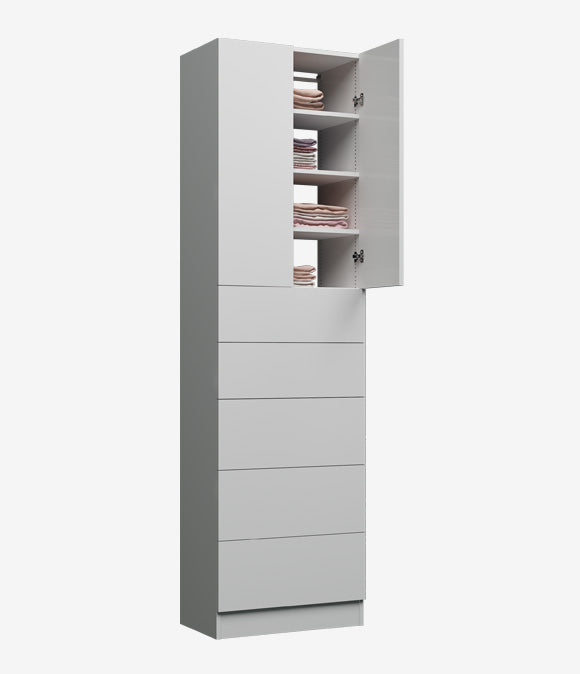 Capital Floor Based - 5 Drawers Covered Shelves