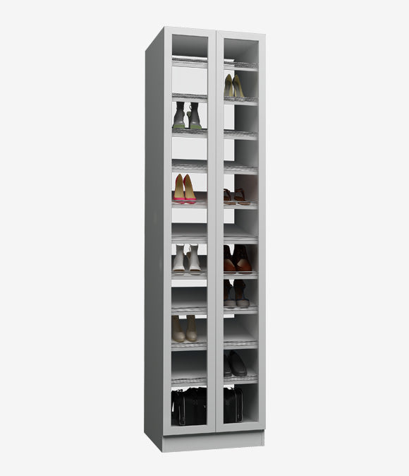 Capital Floor Based - Glass Cover Shoes Shelf