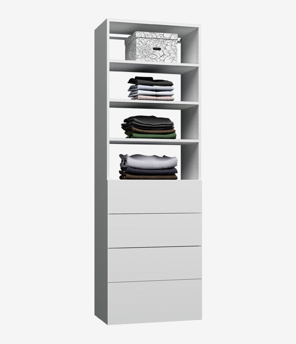 Capital Wall Hung Closets - 4 Drawer Shelves