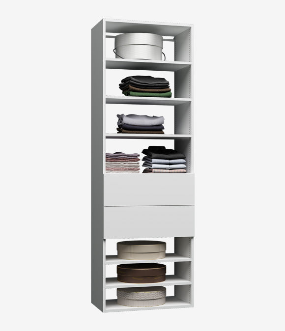 Capital Wall Hung Closets- Shelves & Drawers