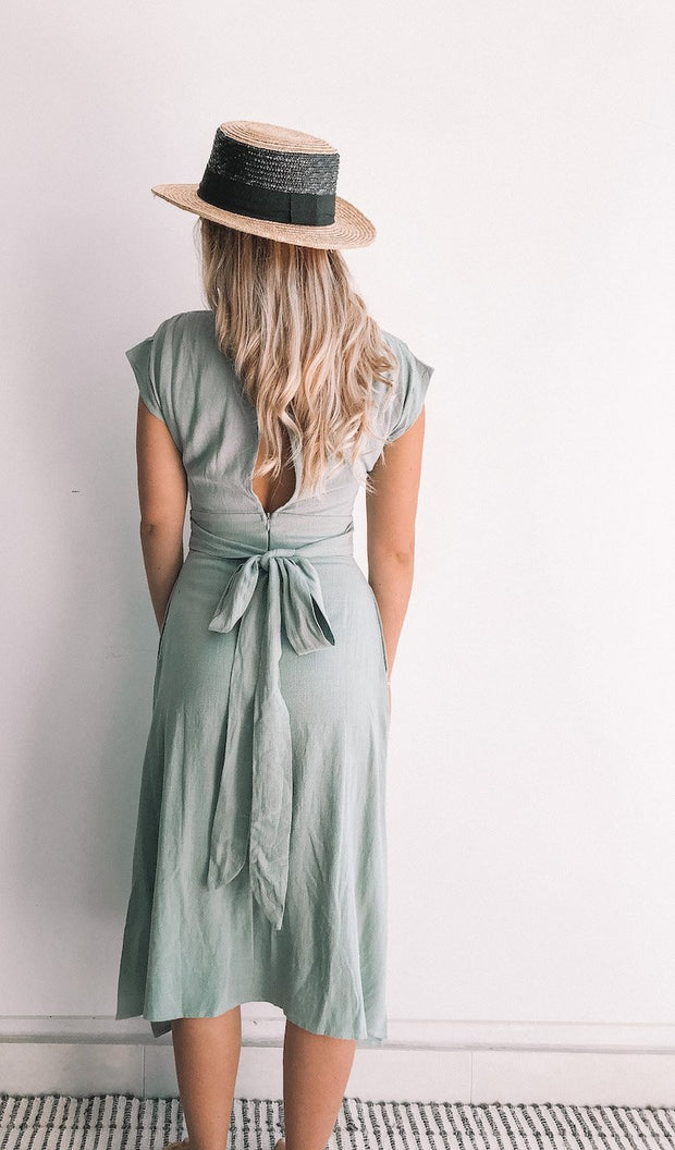 Plentiful Dress - Sage