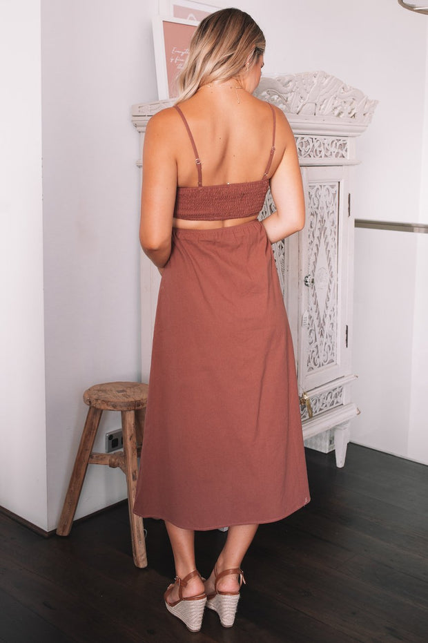 Carlie Dress - Chocolate