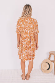 Karmel Dress - Caramel Leopard