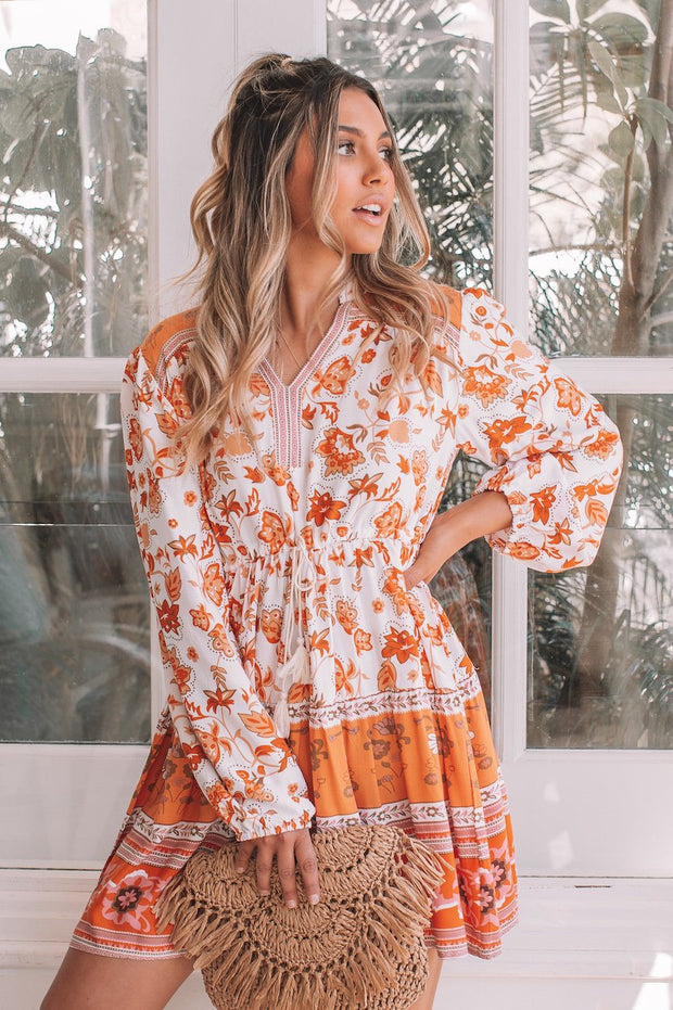 Mohita Dress - Orange Print