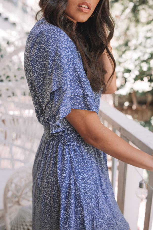 Ember Dress - Navy Print