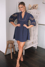 Linnea Dress - Navy