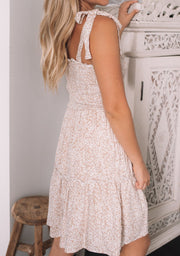 Maureen Dress - Beige Print