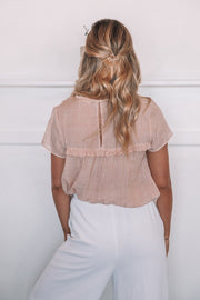 Hondura Top - Blush