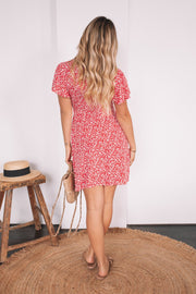 Reece Dress - Red Print