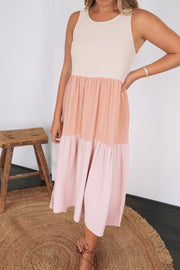 Settle Dress - Pink Block