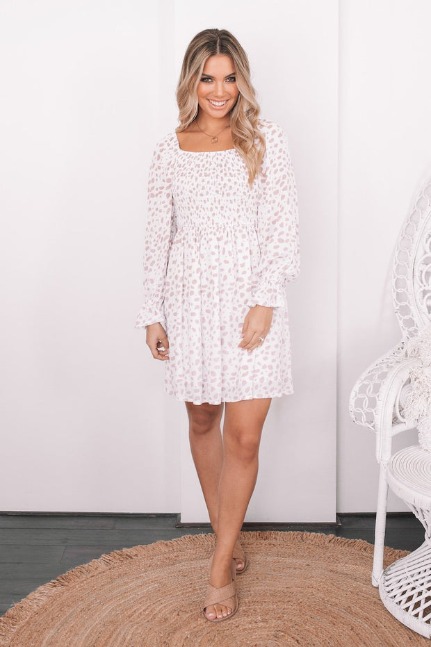 Jillian Dress - White Print
