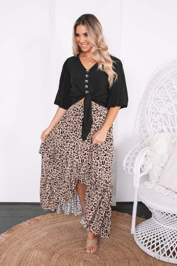Adalyn Skirt - Leopard Print