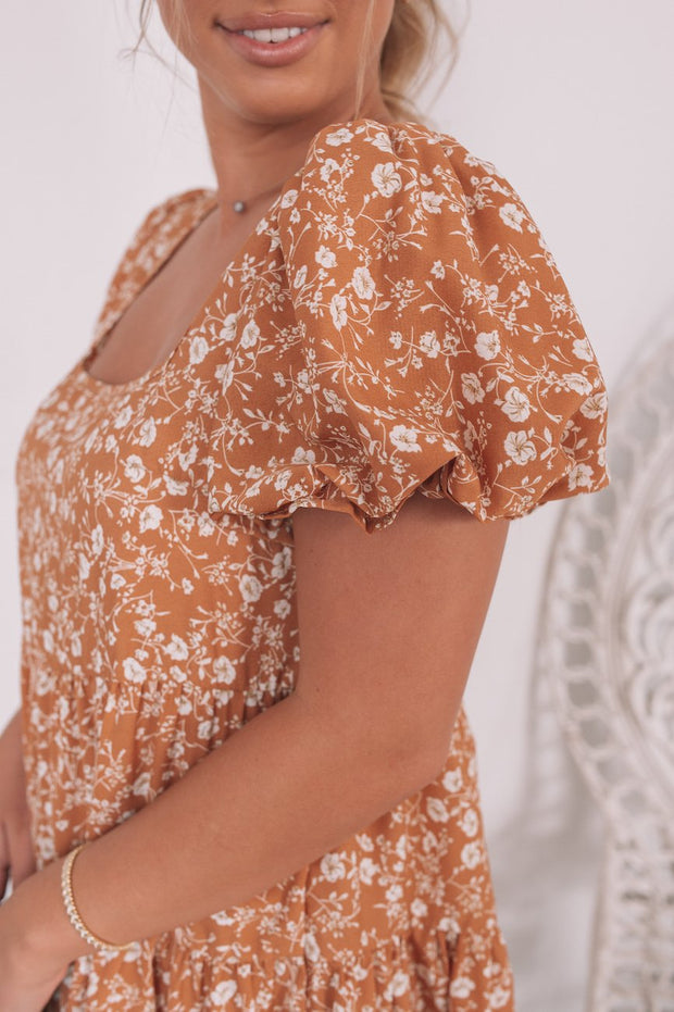 Sirena Dress - Cinnamon Print