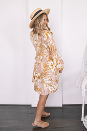 Coralle Dress - Nude Floral