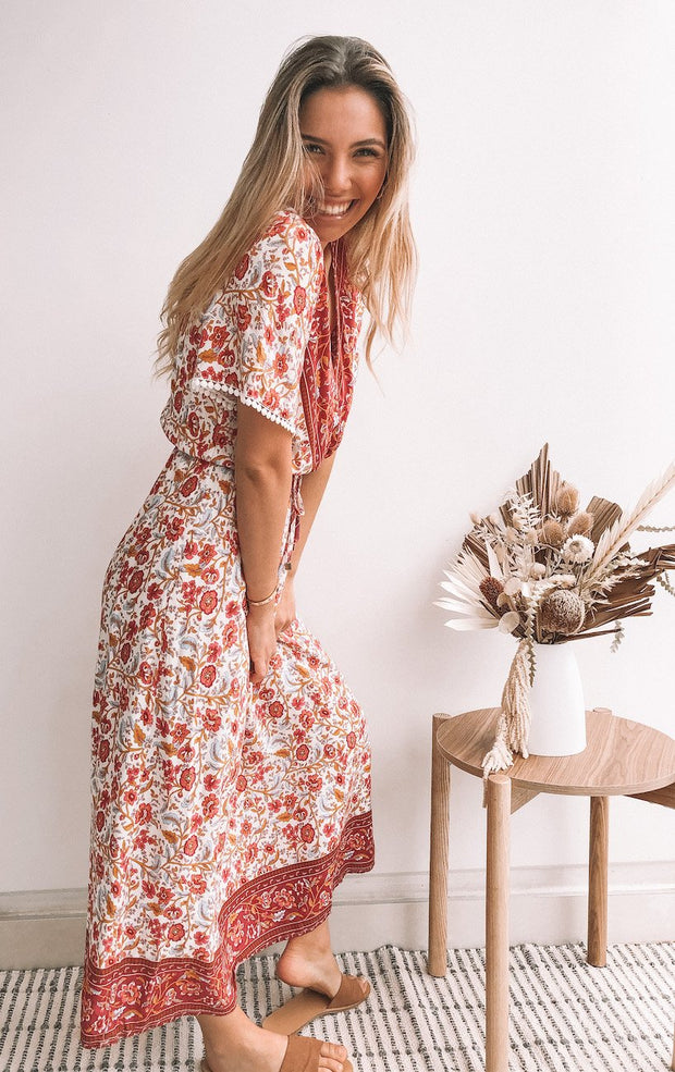 Naz Dress - Red Print