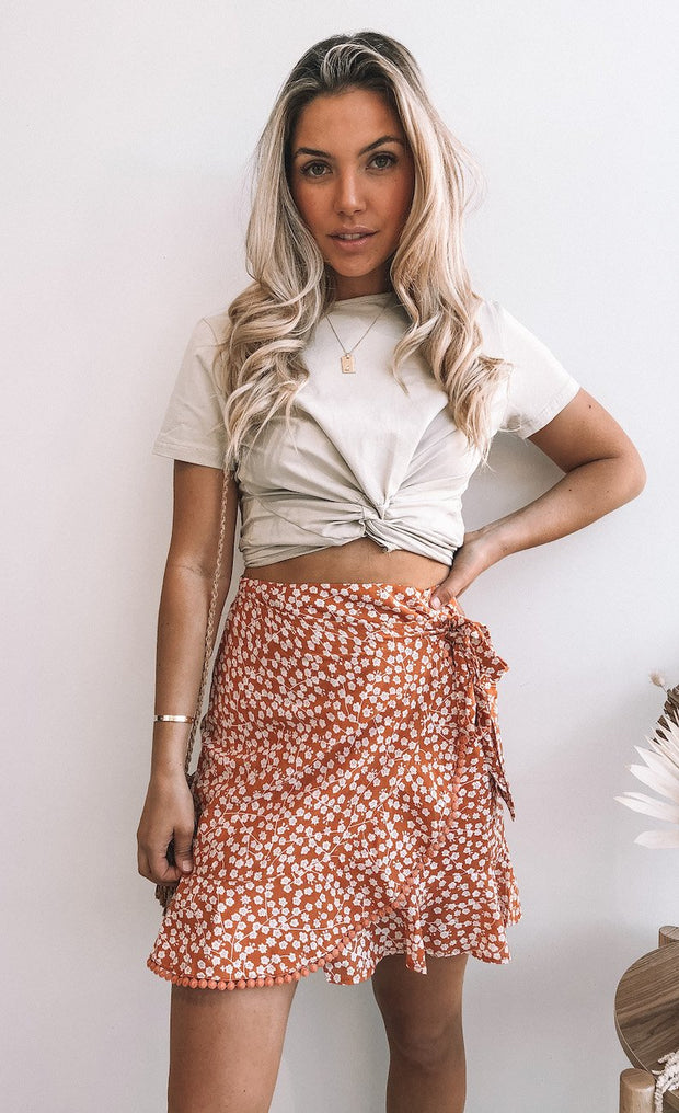 Twirler Skirt - Orange Print