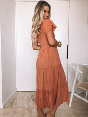 Celie Dress - Rust