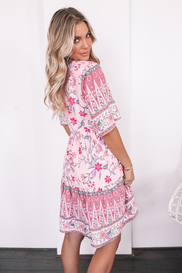 Sweetener Dress - Pink Print