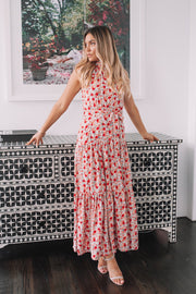 Tobi Dress - Red Print