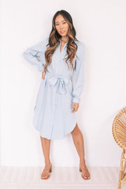 Alda Dress - Light Blue-Dresses-Womens Clothing-ESTHER & CO.